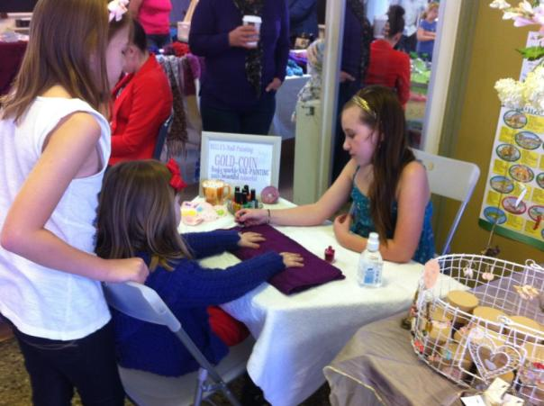 Remember this; I took my jewellery and homewares...well all my handmade stuff to the markets. Bella had her own nail painting stall.