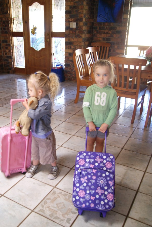 Remember this; Violet and Molly's first day of pre-school. Molly dropped out after just 3 days, Violet however loved it!