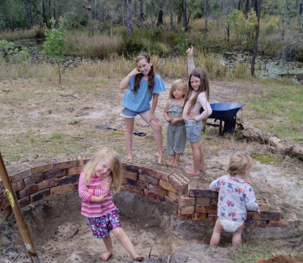 Remember this; we built a fire pit. My kids are goofy and I hope they stay that way.